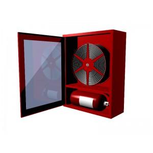 Cutie hidrant cu locas orizontal pentru stingator